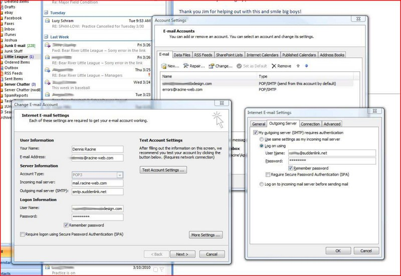 Racine web mail server settings - Outlook express port settings ...